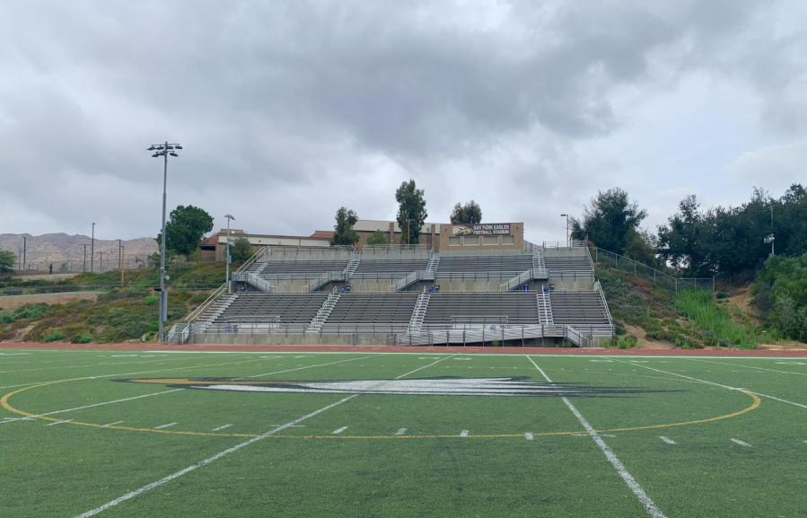 The+football+field+is+the+site+of+many+athletic+practices+and+one+of+the+few+places+students+assemble+on+campus