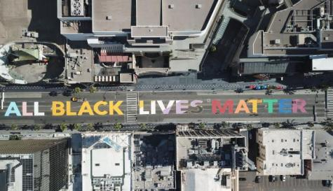 """All Black Lives Matter"" street art"