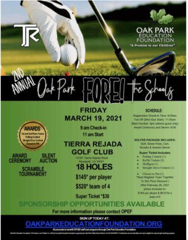 'Golf Carnival' fundraiser to be held on Friday, March 19