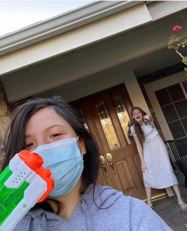 Senior Dani Heidman from H2Hoes takes out Annalise Sean from Tongue-Tide on the way to school.