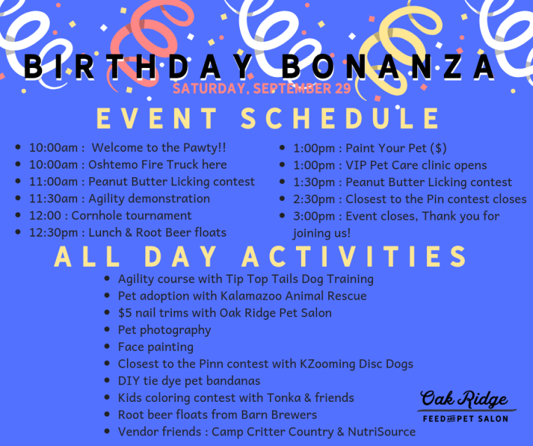 21st Event Schedule
