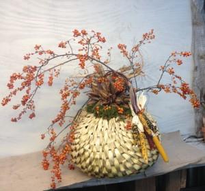 Fall Bittersweet Arrangement in Basket