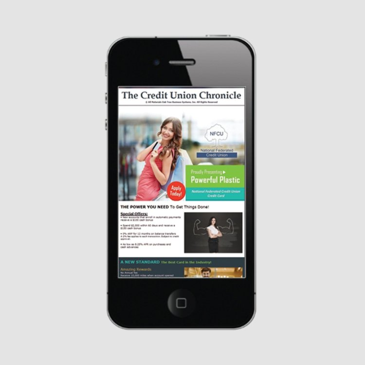 Credit Union Marketing Services Sample - Iphone and Digital Advertising