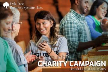 Community Charity Campaign of Helpful Humanitarians by Oak Tree Business