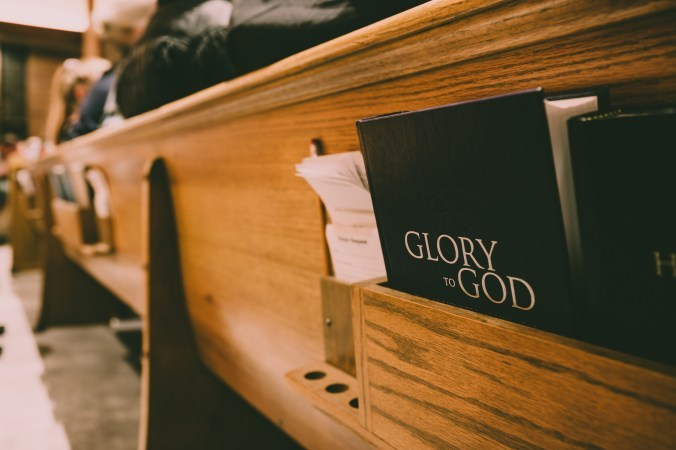 Pew with Bible Image