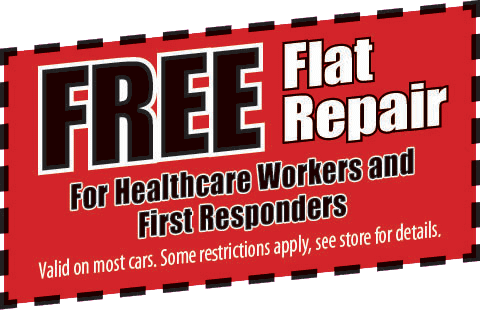 Free Flat Tire Repair for Healthcare Workers and First Responders