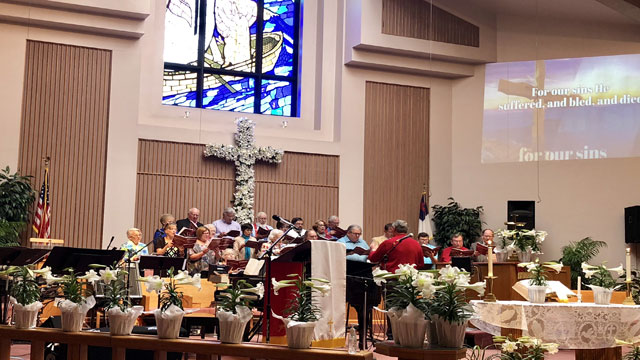 Easter Service Choir, Oakwood United Methodist Church, Lubbock Texas