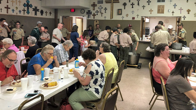 Boy Scouts Troop 157, Wednesday Night Dinner, Oakwood United Methodist Church, Lubbock Texas