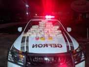 Pouco mais de 29 quilos de cocaína foram encontradas dentro do carro.