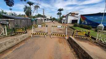 Ponte Wilson Pinheiro, pela cidade de Brasiléia também foi interditada - Foto: Alexandre Lima