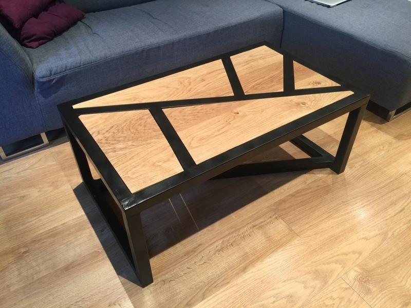 diy table basse bois metal oui