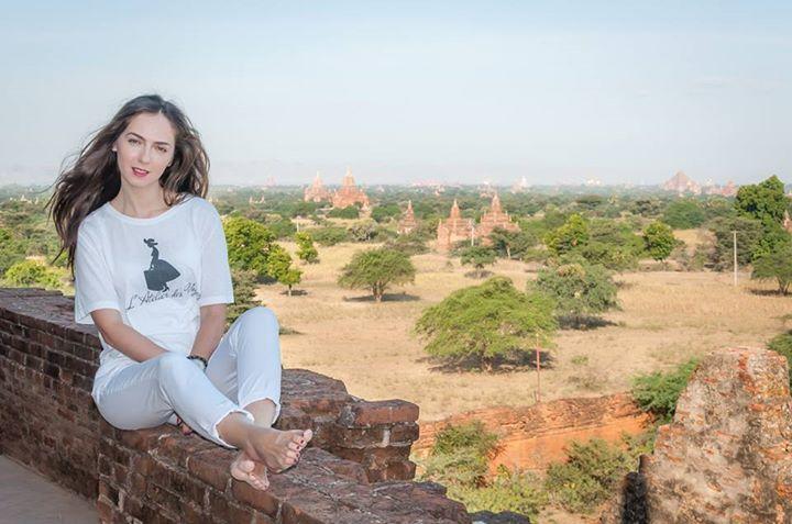 Roxana in Bagan, Myanmar