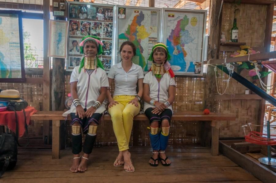 Femei din tribul Kayan Padaung Inle Lake, Myanmar, Shan State