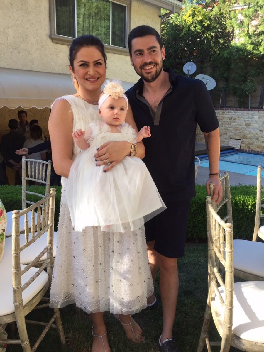 Alexandra Nechita, Dima, sotul ei, si fiica lor Tevva