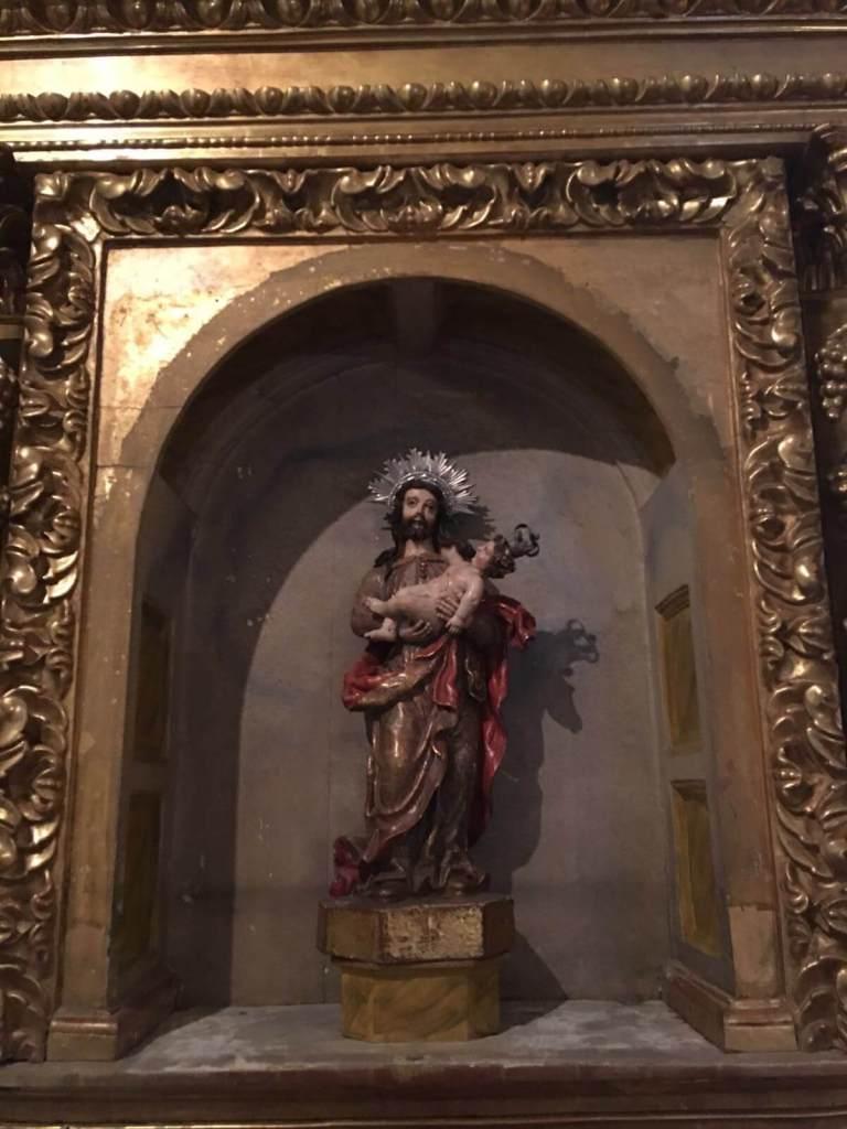 Pruncul Iisus in bratele lui Iosif, o raritate