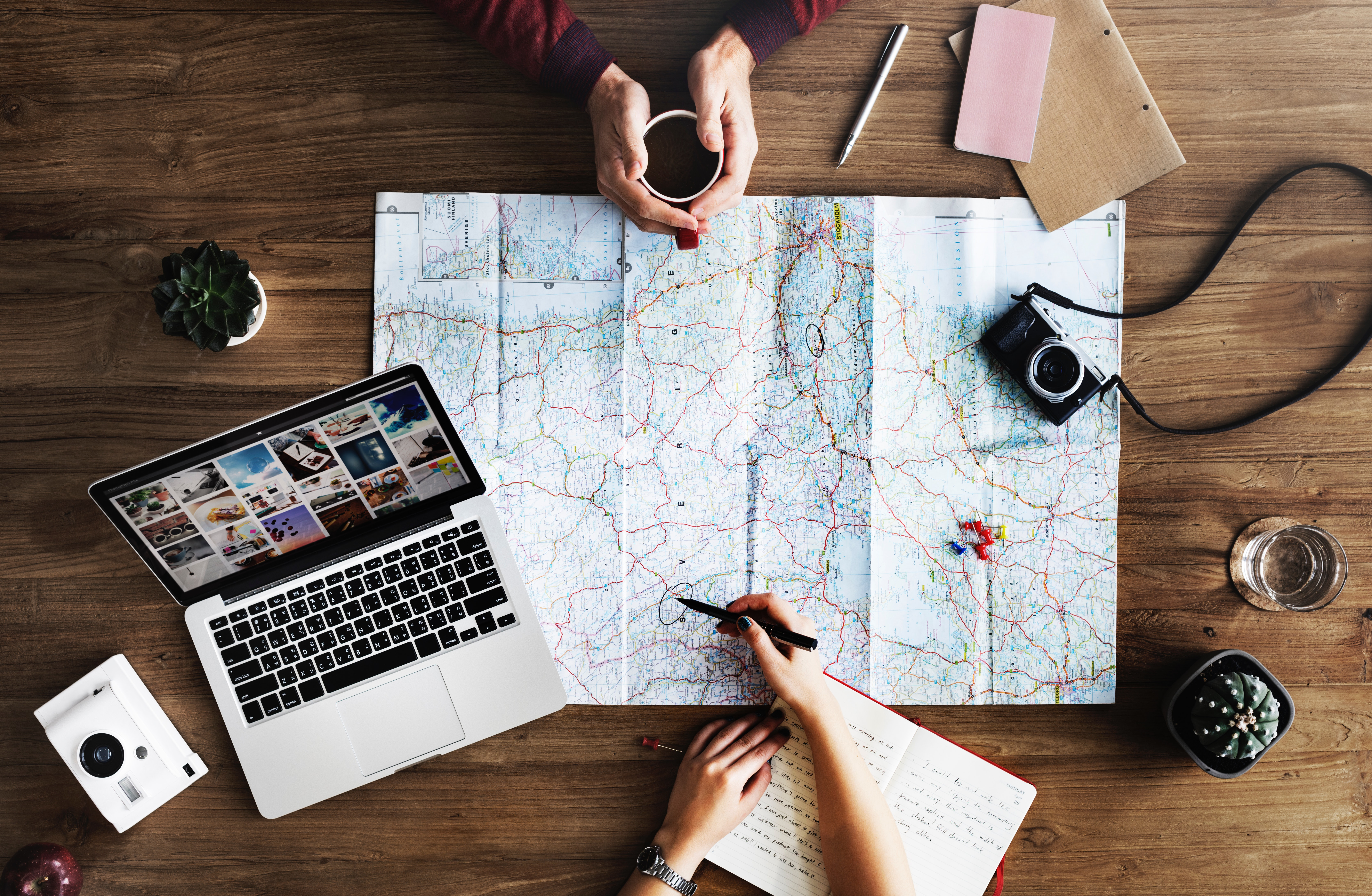 Planning, trips, writing