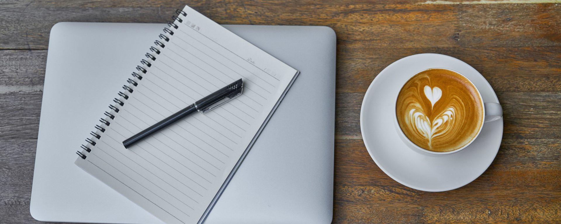 Writing, coffee, planning