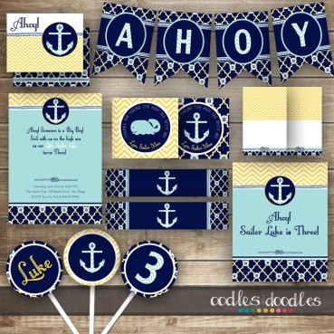Nautical Birthday Party by Oodles and Doodles, OandD