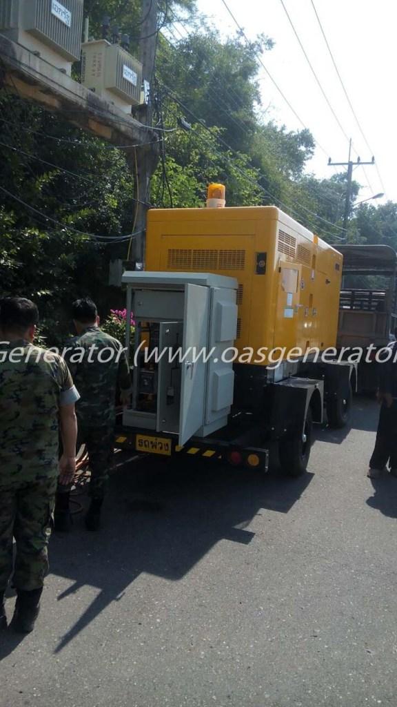 เครื่องกำเนิดไฟฟ้า 250 kVA Trailer - ATS สายไฟ ทหารเรือ-3