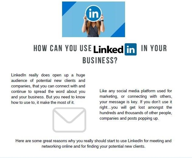 How can you used Linkedin in your business