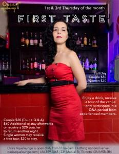 First Taste For Sex Club Newbies & Naked Karaoke @ Oasis Aqualounge | Toronto | Ontario | Canada