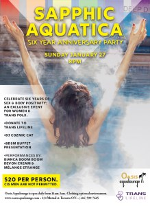 Sapphic Aquatica Six Year Anniversary : Spa & Social for Women and Trans Folks