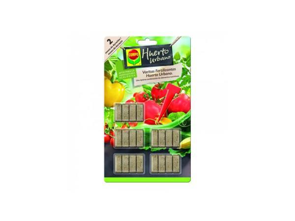 imagen varitas fertilizantes huerto y frutales 20 ud compo