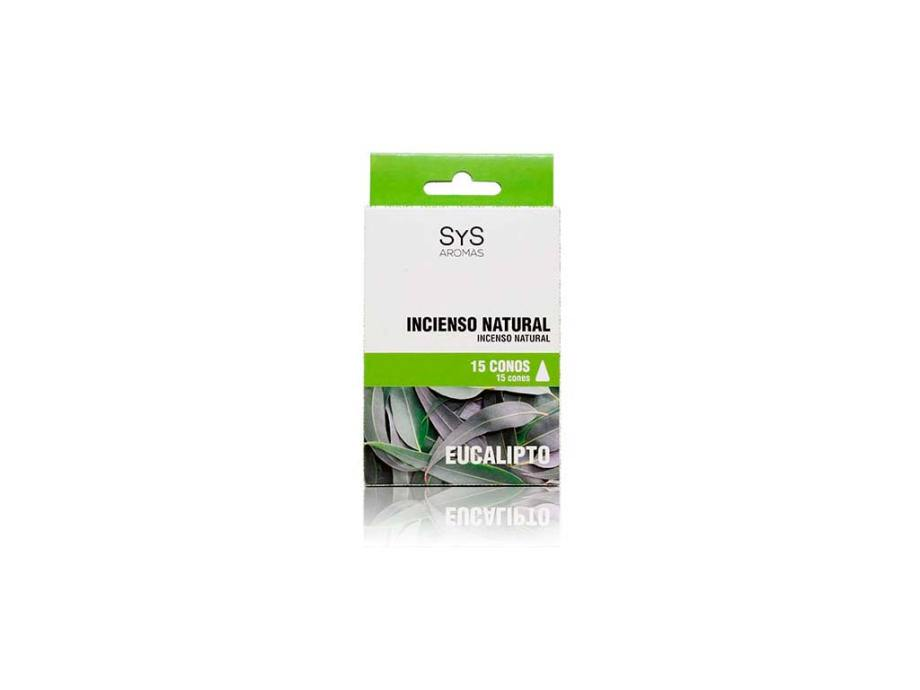 Incienso Natural 15 Conos Eucalipto  SyS