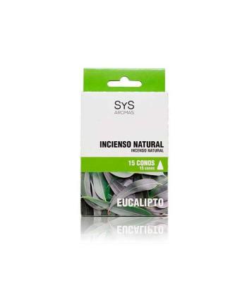 Incienso Natural 15 Conos Eucalipto  SyS