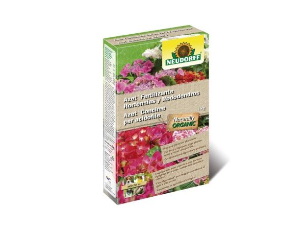 azet fertilizante hortensias y rododendros 1 kg neudorff
