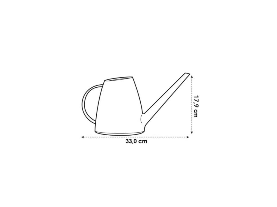 brussels watering can 1,8 L white elho