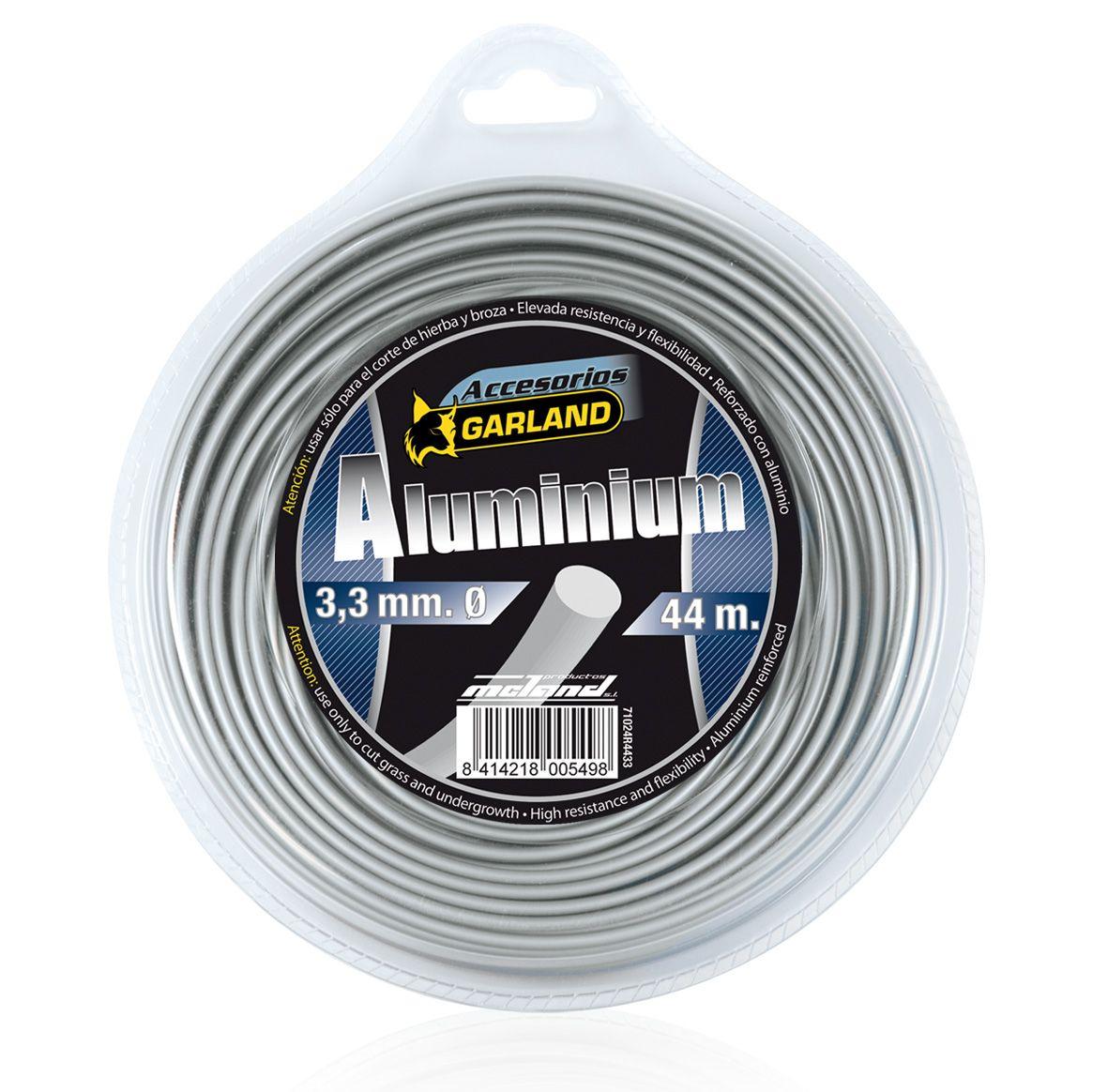 Dispensador Hilo Nylon Aluminio 3,3 mm 44m Garland