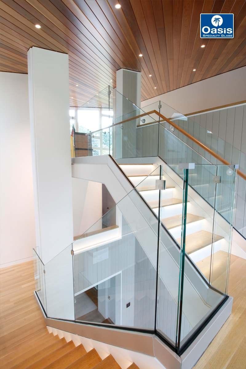 Glass Railings And Banisters Oasis Specialty Glass Boston Ma   Glass Stair Rails And Banisters   Photo Gallery   Perspex   Thick Solid Oak Stair   Mirror   Stair Price
