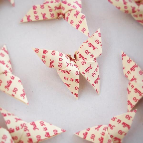 Origami-Butterfly-Birthday-Party-Table-Scatters-Confetti-Handmade-White-Pink-Personalised-Oast-House-Gifts