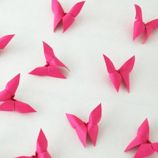 Origami-Butterfly-Wedding-Party-Table-Scatters-Confetti-Handmade-Fuchsia-Pink-Oast-House-Gifts