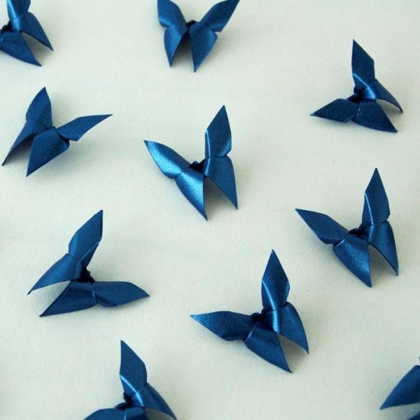 Origami-Butterfly-Wedding-Party-Table-Scatters-Confetti-Handmade-Metalic-Cobalt-Blue-Oast-House-Gifts