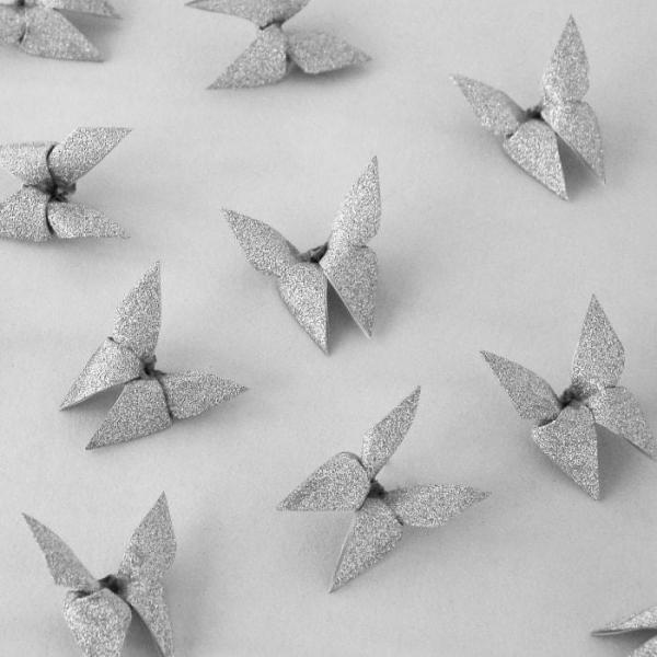 Origami-Butterfly-Wedding-Party-Table-Scatters-Confetti-Handmade-Silver-Bling-Oast-House-Gifts