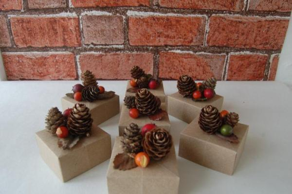 Wedding-Favours-Pinecone-Topped-Boxes-Autumnal-Festive-Handmade-Origami-Boxes-Oast-House-Gifts