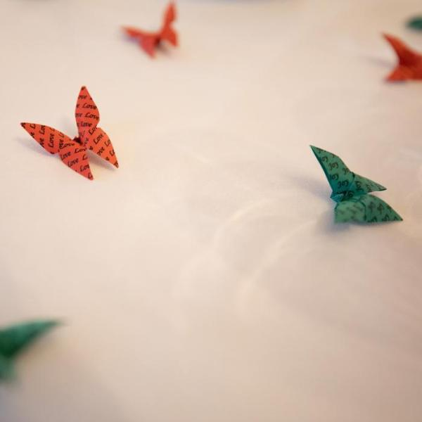 Origami-Butterfly-festive-Christmas-Party-Table-Scatters-Confetti-Handmade-Love-Joy-Red-Green-Port-Lympne-Hotel-Jeff-Oliver-Photograpghy