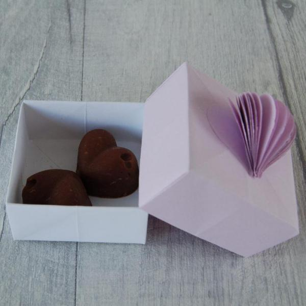 Wedding-Favour-Boxes-Handmade-Origami-3D Heart-Two-Chocolate-Fudge-Oast-House-Gifts