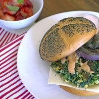 Popeye Spinach Burgers with Homemade Thousand Island Dressing