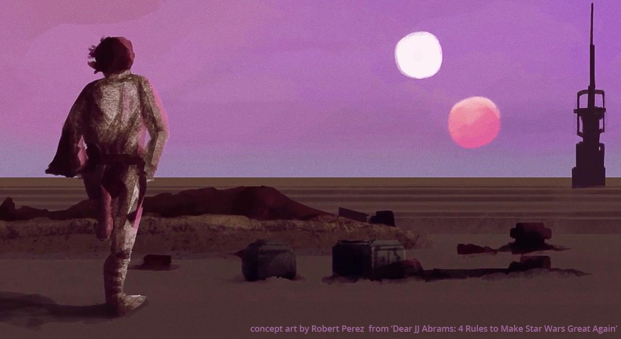 Dear JJ Abrams - Star Wars Double Sunset
