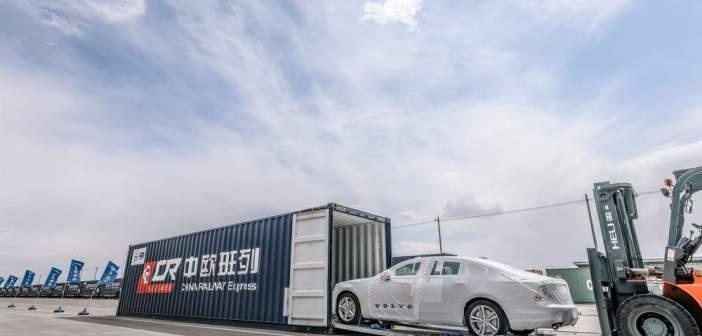 Pierwsze sedany Volvo S90 wyprodukowane w Chinach przyjadą do Europy dzięki wspaniałemu połączeniu kolejowemu