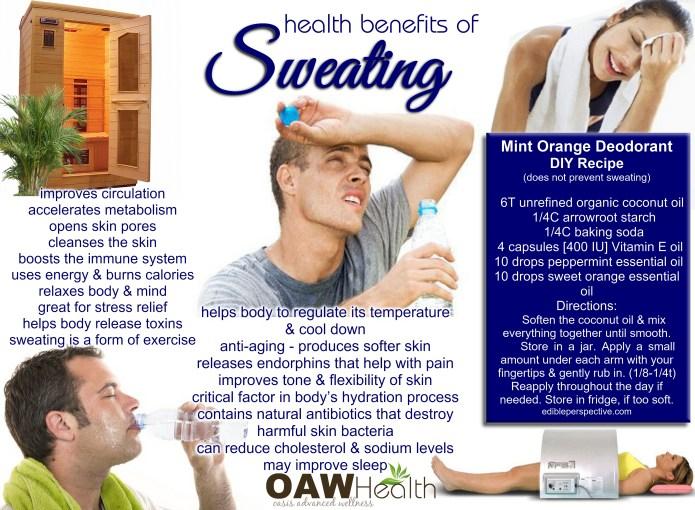 health benefits of sweating