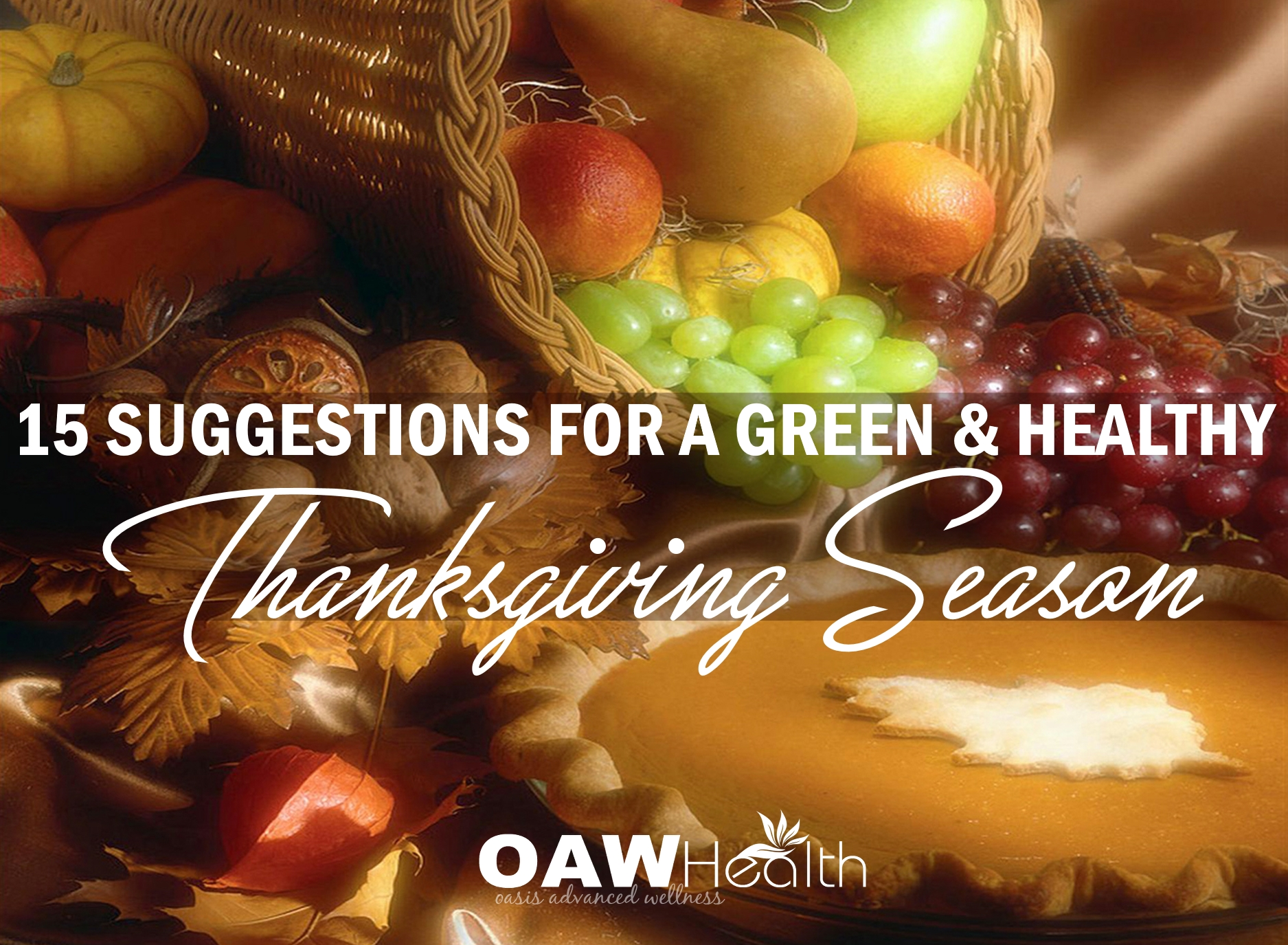 15 Suggestions For a Healthy Thanksgiving Season