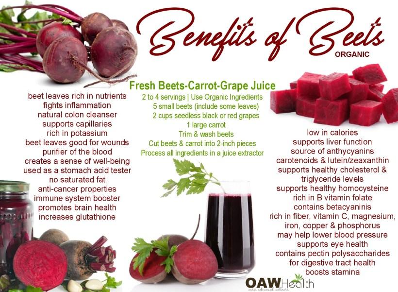 benefits of organic beets