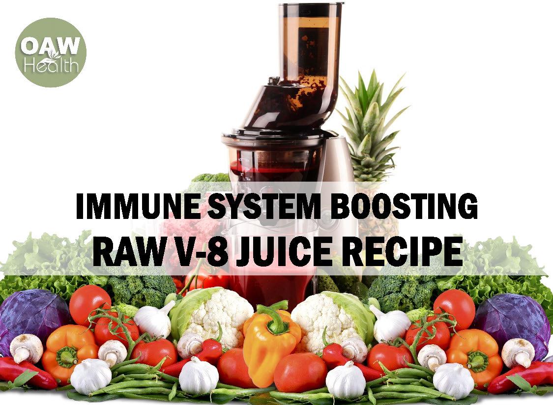Immune System Boosting Raw V8 Juice Recipe