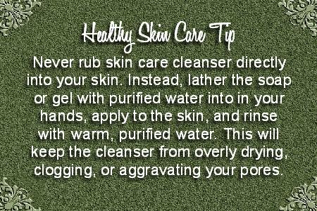 Natural Skin Care Tip