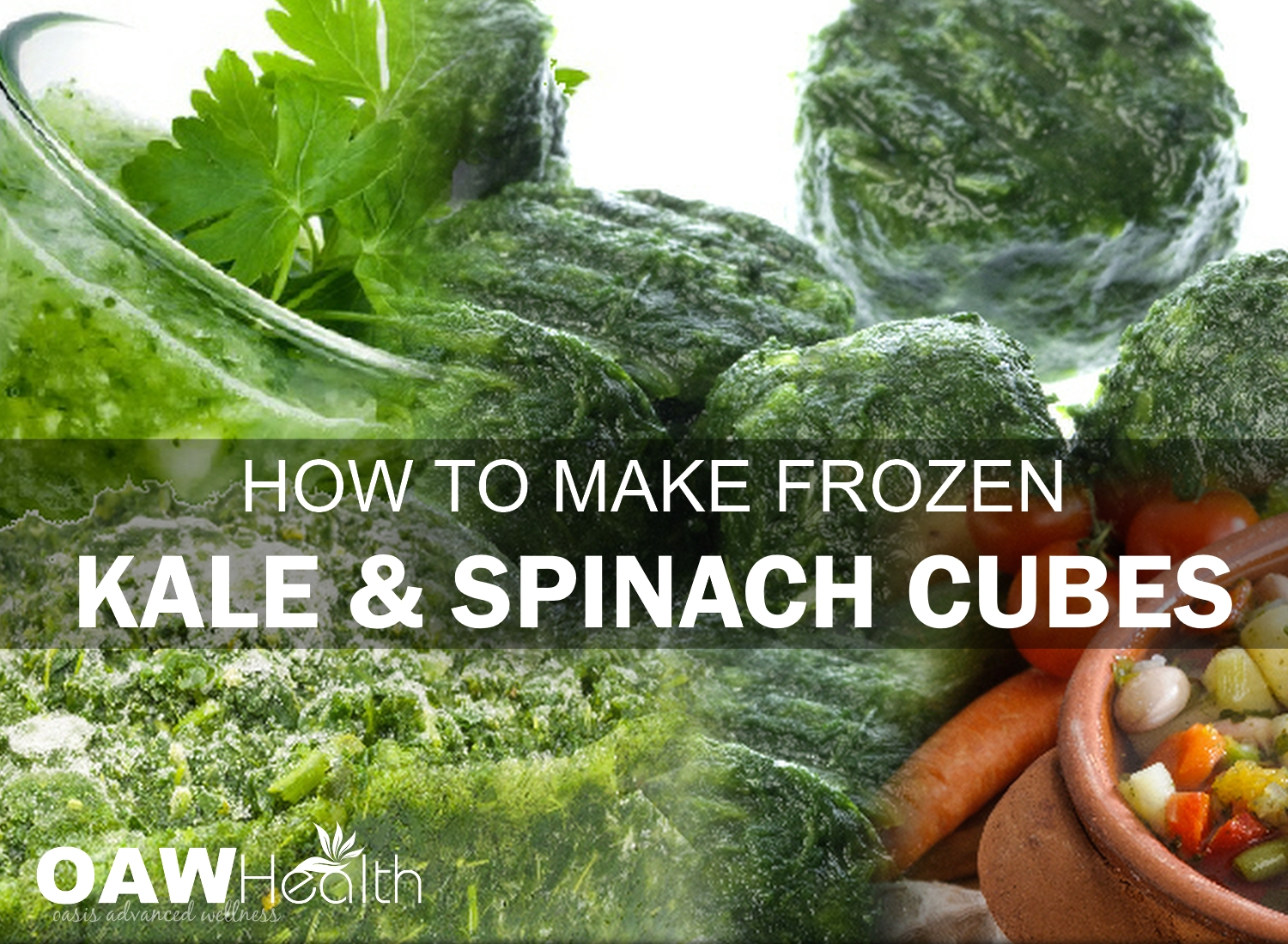 How to Make Frozen Kale and Spinach Cubes