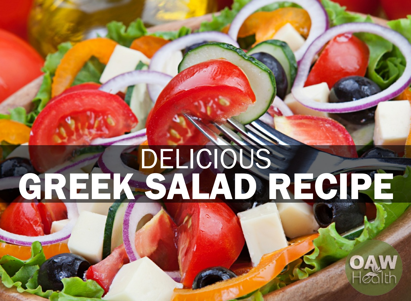 Delicious Greek Salad with Feta Cheese and Olives